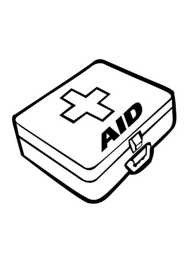 First Aid Kit Is One Of Medical Tools Coloring Page Coloring Sky Coloring Pages Stitch Coloring Pages Avengers Coloring Pages