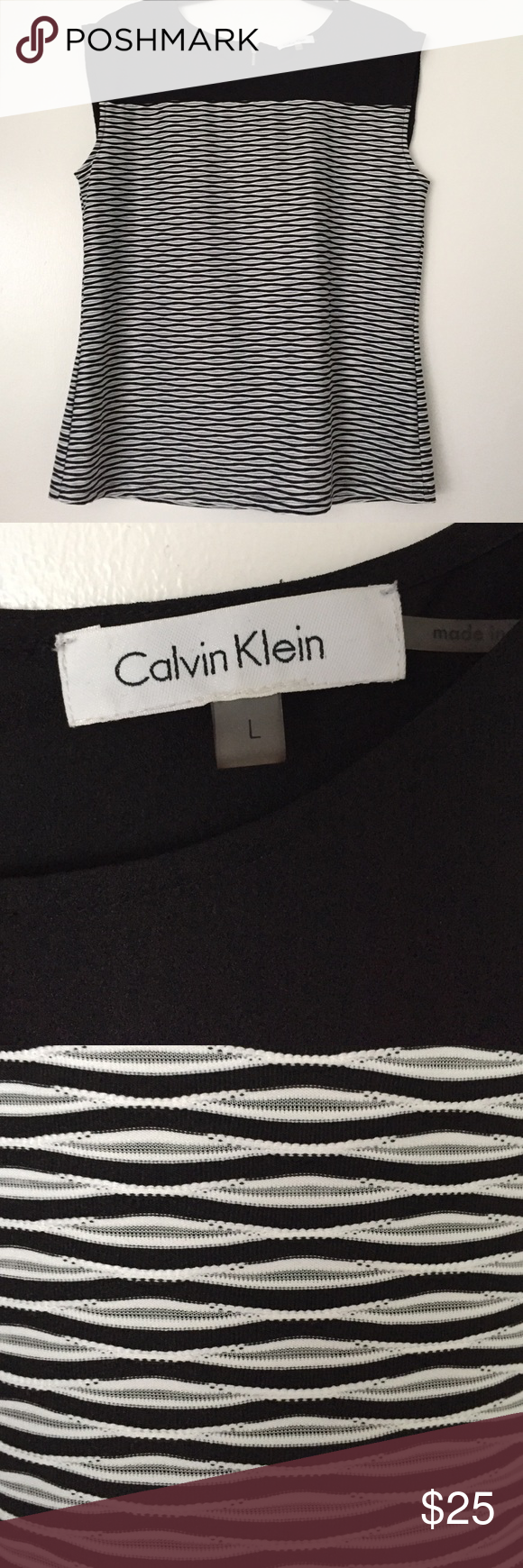 Calvin Klein Sleeveless Top Calvin Klein Sleeveless Blouse Top. Worn a few times. Mint condition!!!! Calvin Klein Tops