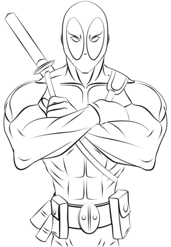 Deadpool Coloriage Deadpool Dessin Dessin Kawaii A Colorier Coloriage