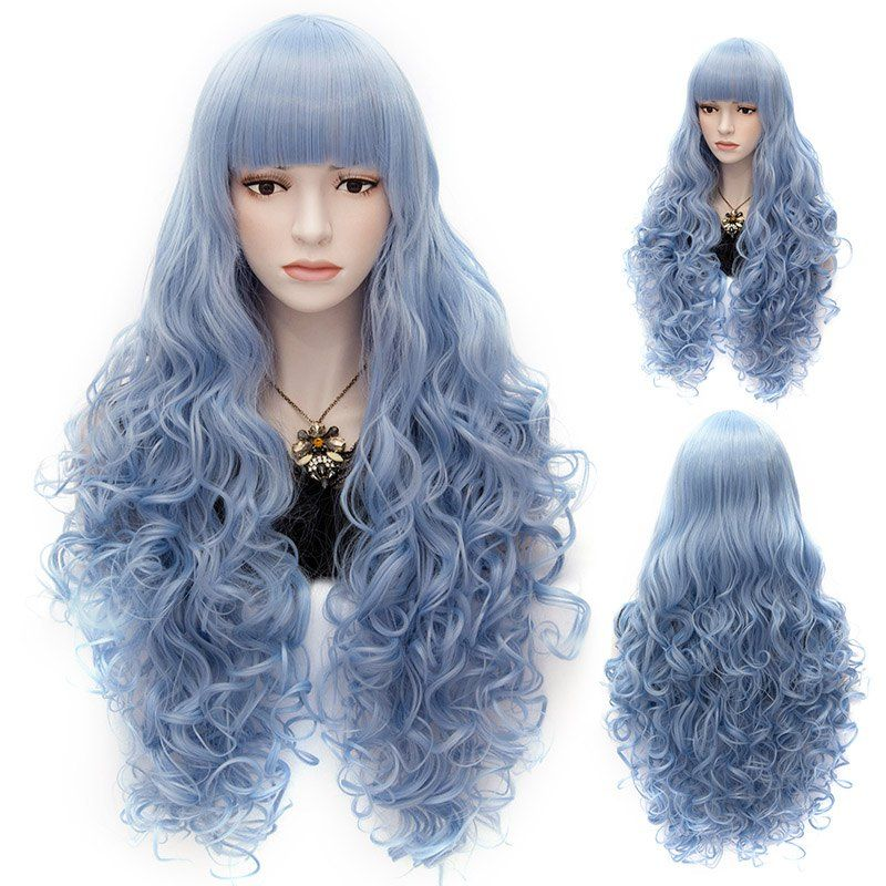 Vogue Long Sophisticated Fluffy Wave Fashion Full Bang Synthetic Capless Wig For Women