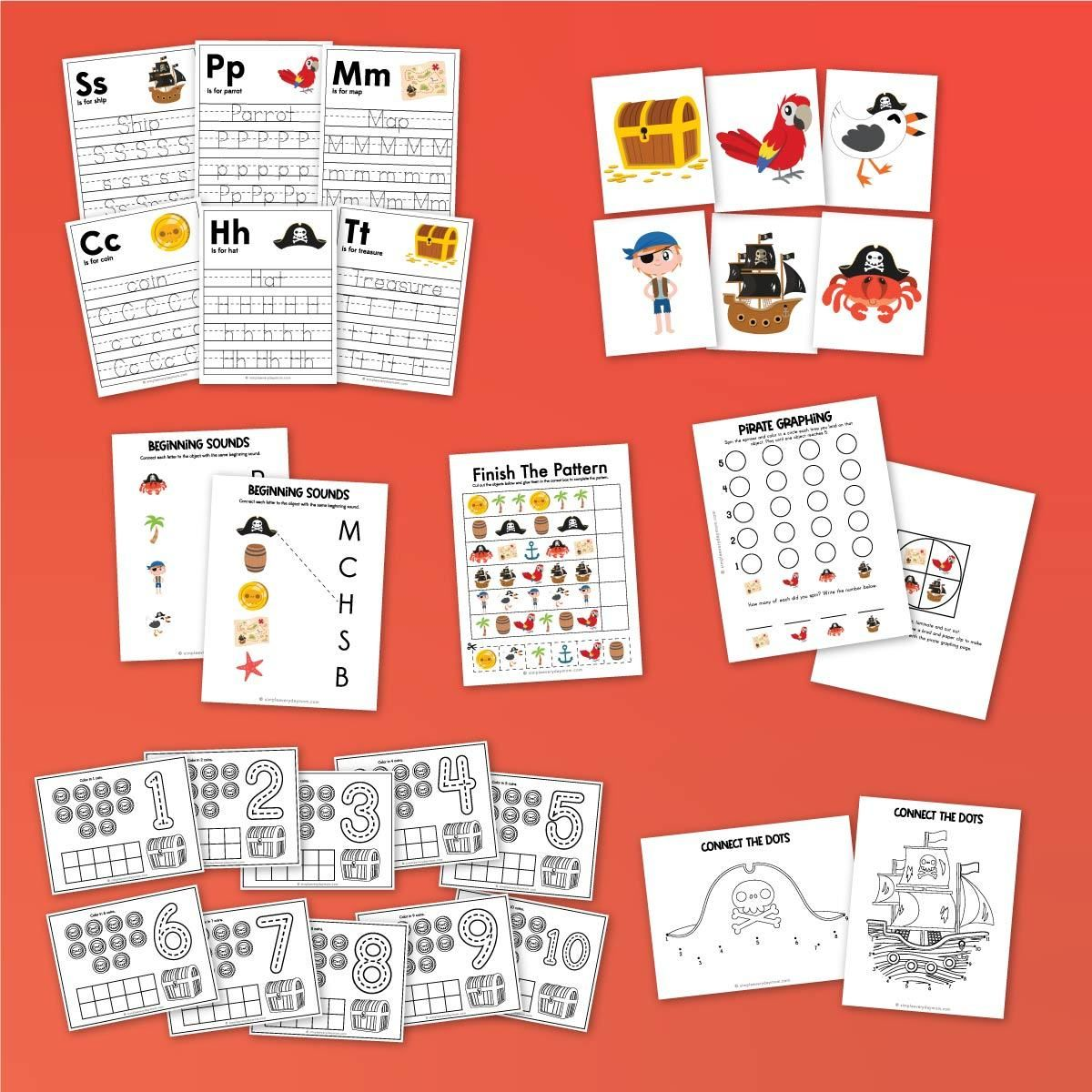 Pirate Worksheets For Kids Worksheets For Kids Pirate Activities Graphing Worksheets [ 1200 x 1200 Pixel ]
