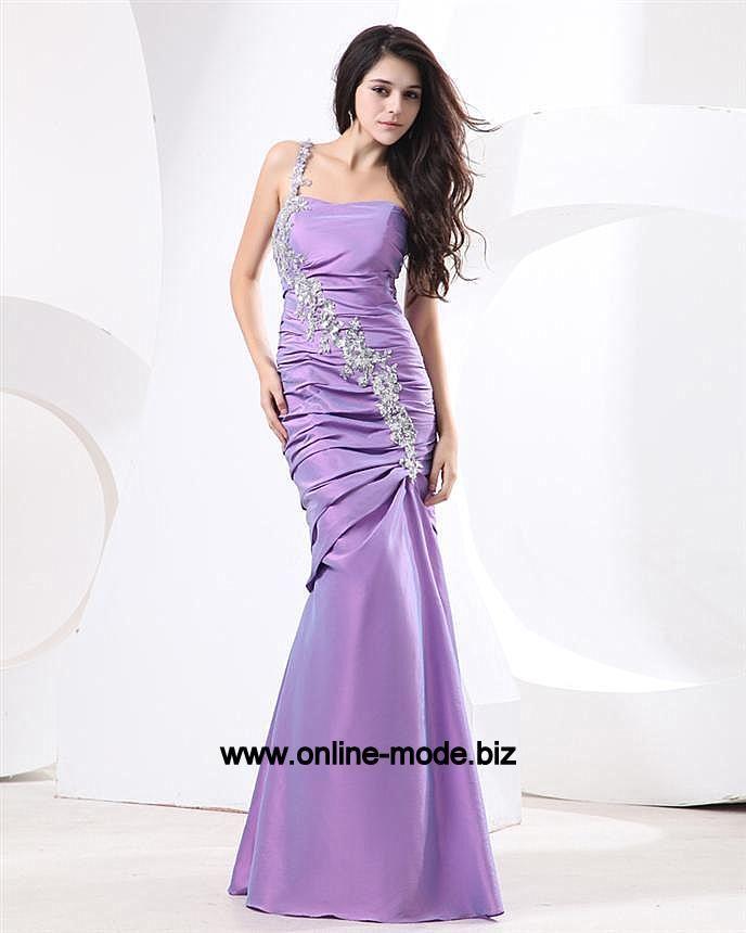 Kleid chiffon flieder