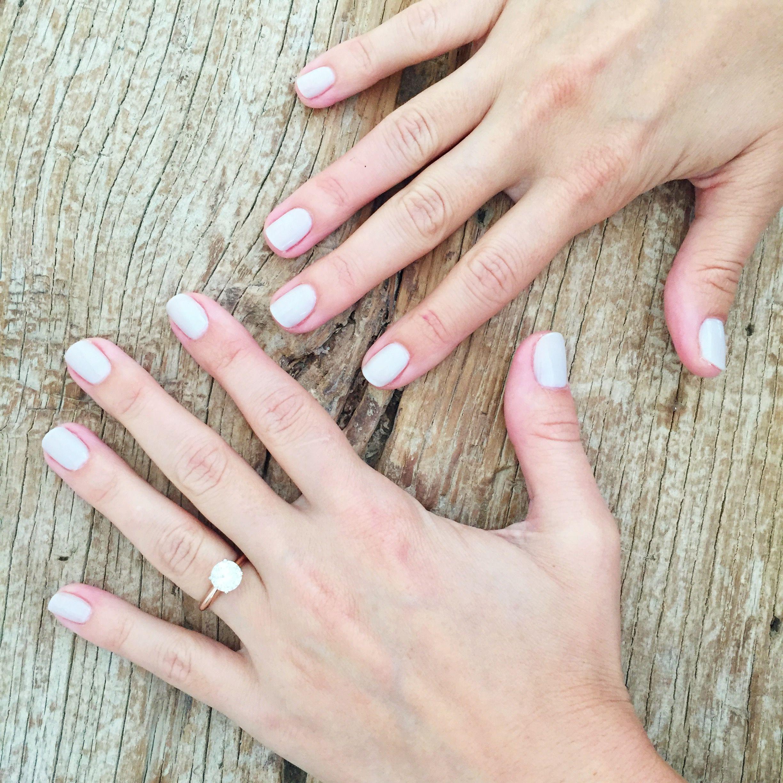 Lauren Conrad\'s neutral nails on set for LC Lauren Conrad   Bodycare ...