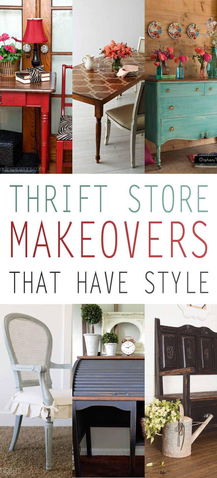 thrift store makeovers that have style thrift store online pinterest thrifting. Black Bedroom Furniture Sets. Home Design Ideas