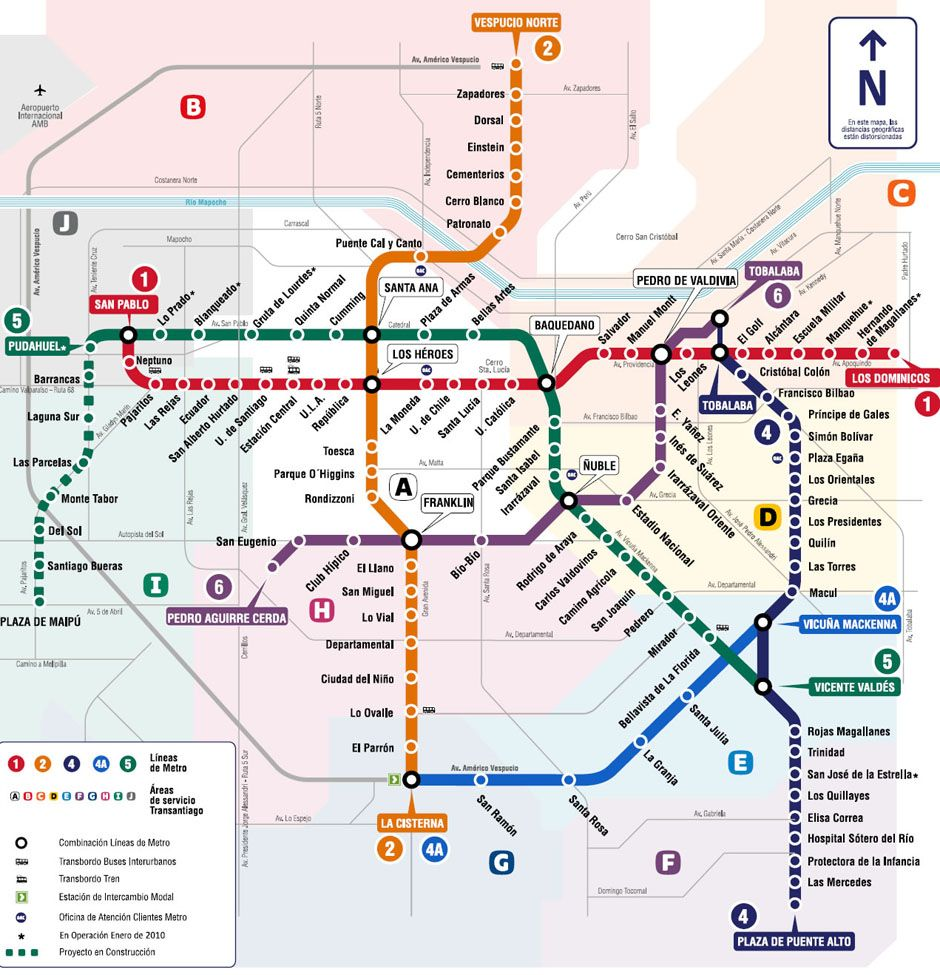 Subway Map In Chile.Mapa Del Metro De Santiago De Chile Could Be A Research Project To