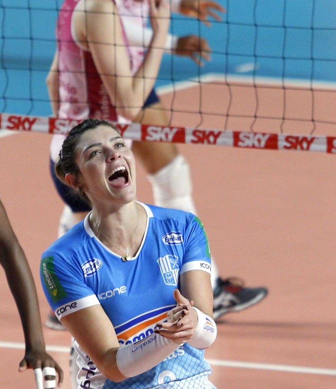 Rosamaria Montibeller Volleyball Player From Brasil Volei Esportes
