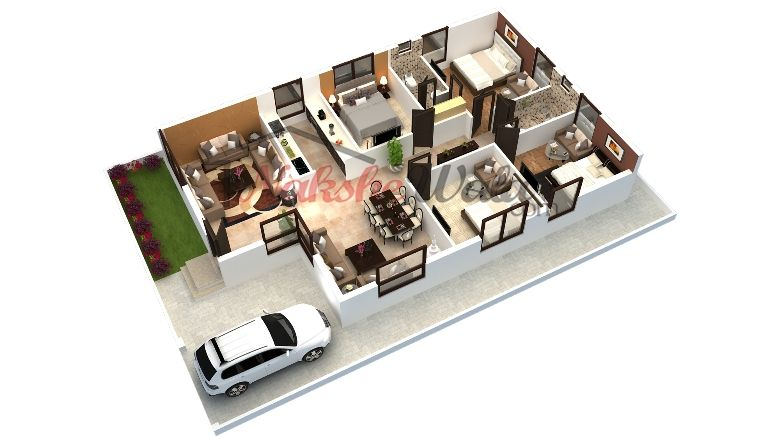 3D Floor Plans, 3D House Design, 3D House Plan, Customized 3D Home ...