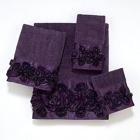 Avanti 12-Inch x 12-Inch Washcloth in Rose Iris