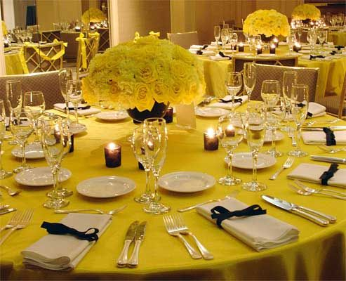 Blue Yellow Wedding Theme Ideas Wedding Decorations Ideas Yellow