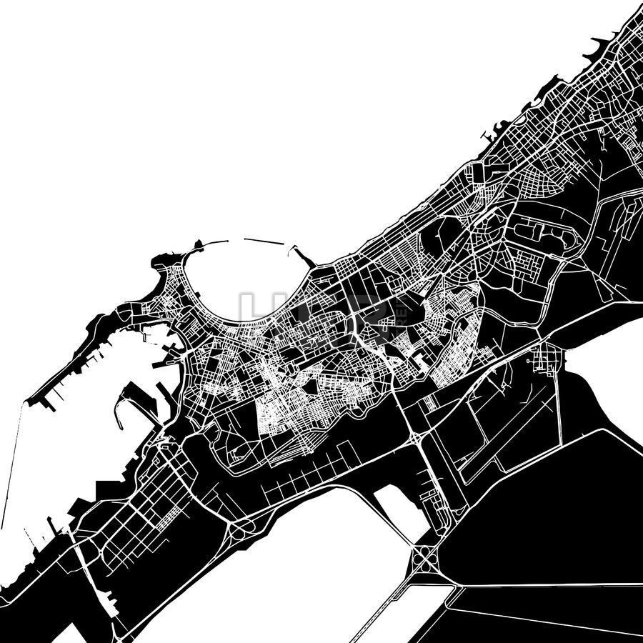 Louisiana Map Alexandria%0A Alexandria  Egypt  Downtown Vector Map
