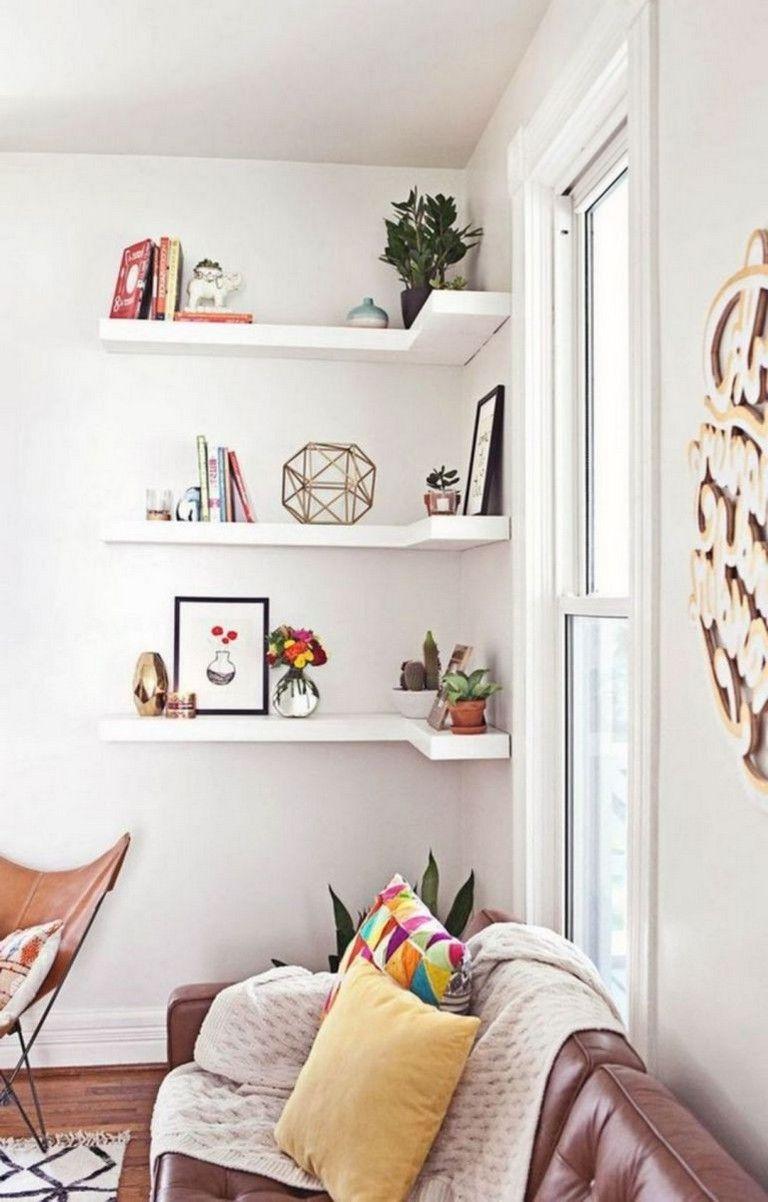 20 Amazing Corner Shelves Design Ideas For Your Living Room Livingroomfurnitur Home Decor Diy Ikea Before After