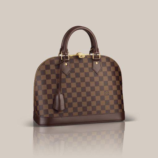 LOUISVUITTON.COM - Alma PM Damier Ebene Canvas Handbags   Louis ... db1adb3516c