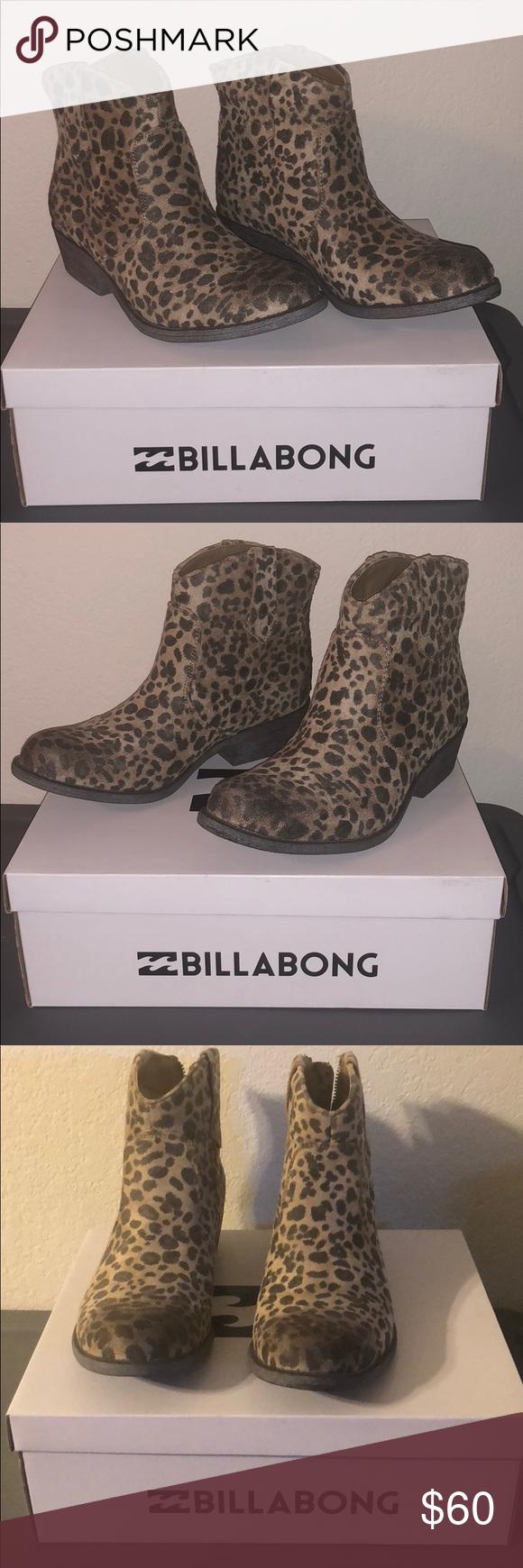 billabong leopard booties