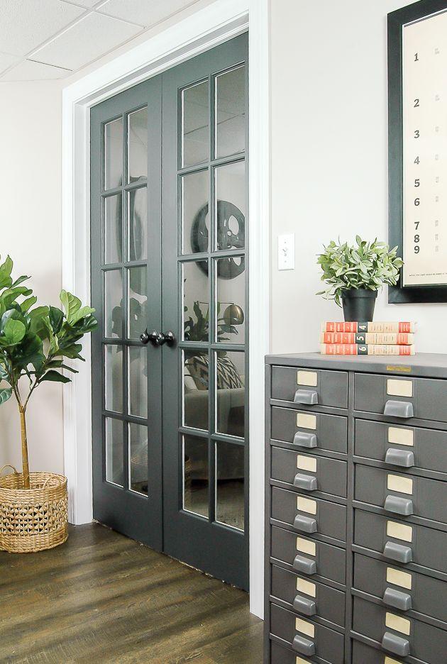 The Power of Paint Dark Painted Interior Doors & The Power of Paint: Dark Painted Interior French Doors | Blogger ...