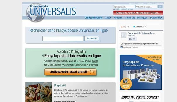 encyclopedie universalis internet
