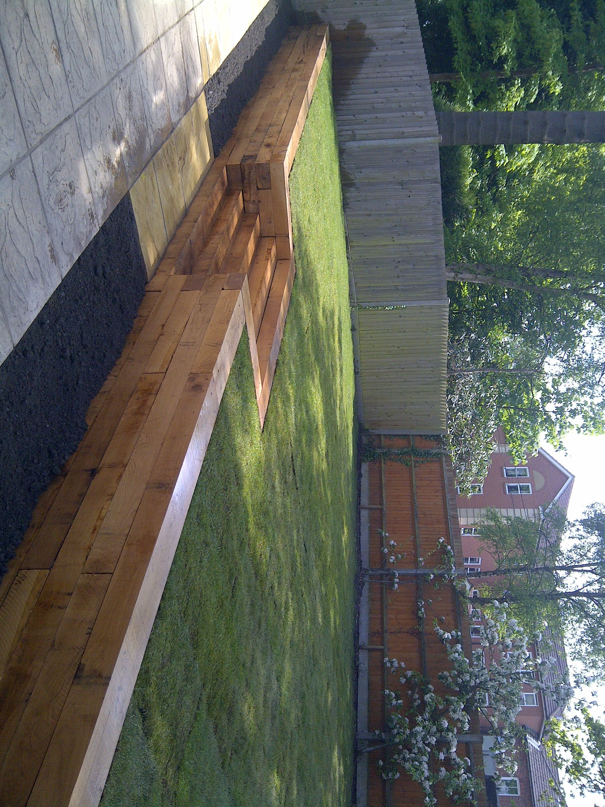 patios paths oak sleeper walls brick walls garden design hard landscaping - Garden Design Using Sleepers
