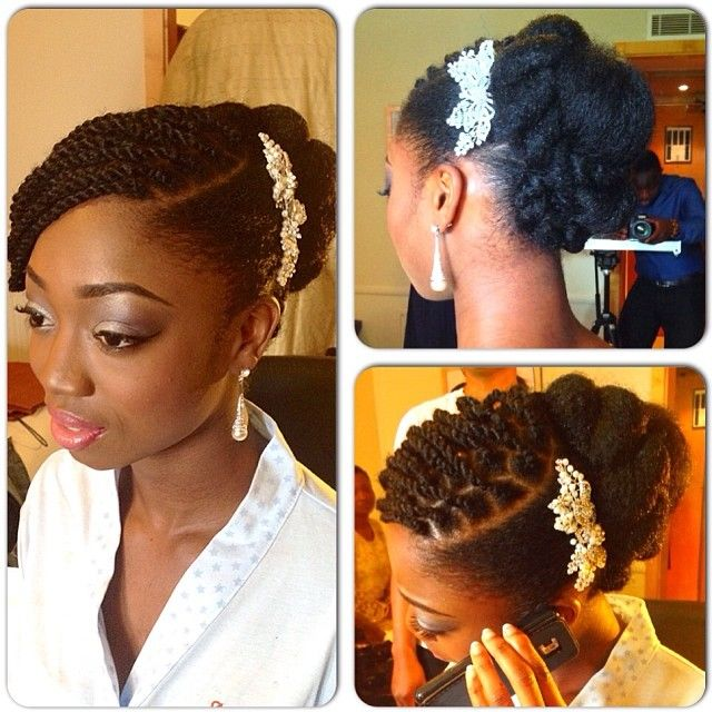 African American Hairstyles For Wedding: African American. Black Bride. Wedding Hair. Natural