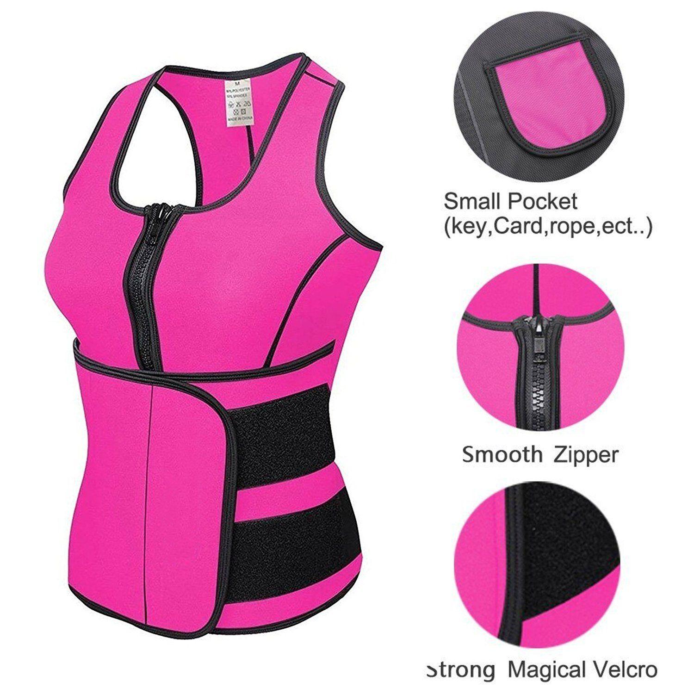 3b1a4f7861c Camellias Women s Sweat Neoprene Sauna Suit Tank Top Vest With Adjustable  Shaper Sports Waist Trainer Belt Black