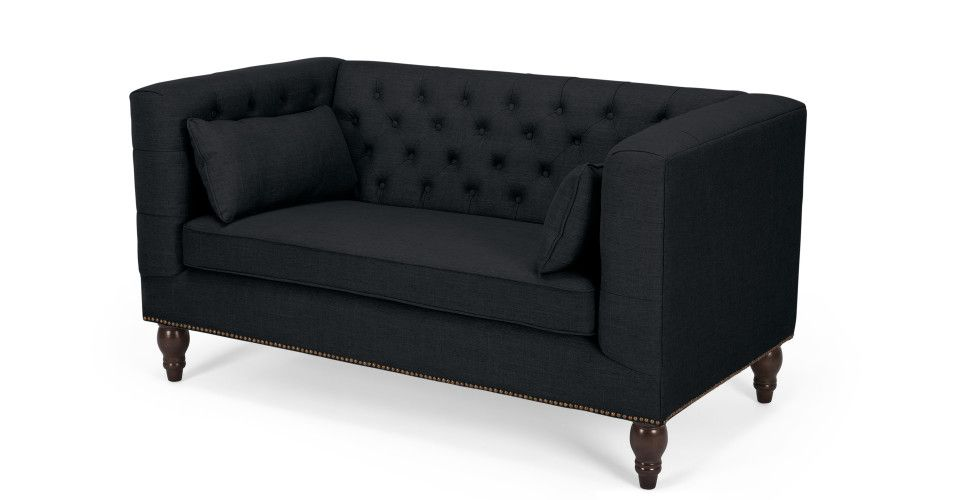 Flynn 2 Seater Sofa In Midnight Black Made Com 2 Seater Sofa
