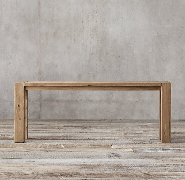 Reclaimed Russian Oak Parsons Console Table Sofa Options