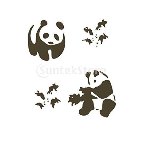 Pochoir de Peinture Murale Motif Panda Maison Art Décoration Amazon