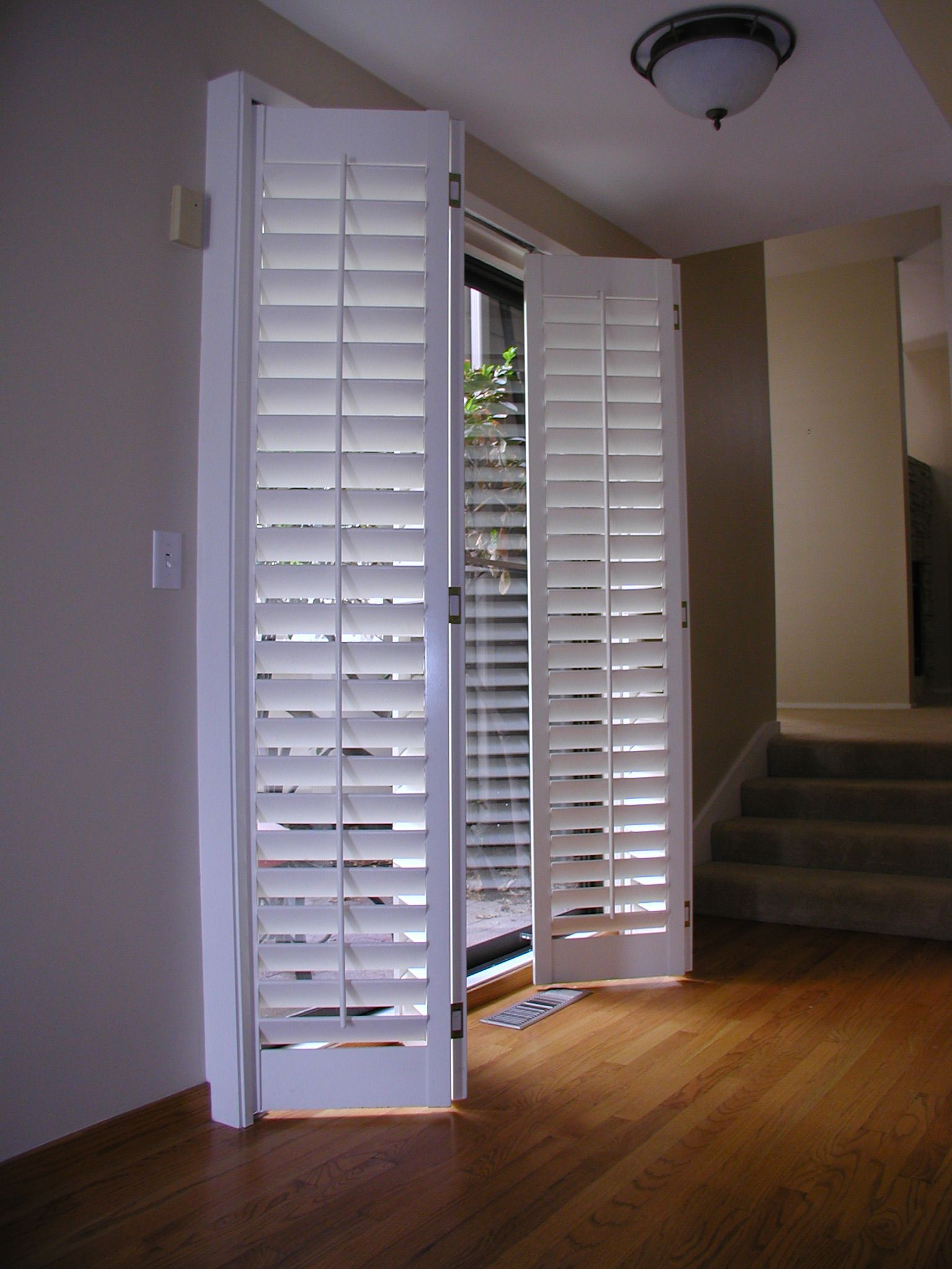 Sliding glass door shutters are both gorgeous and easy to use click