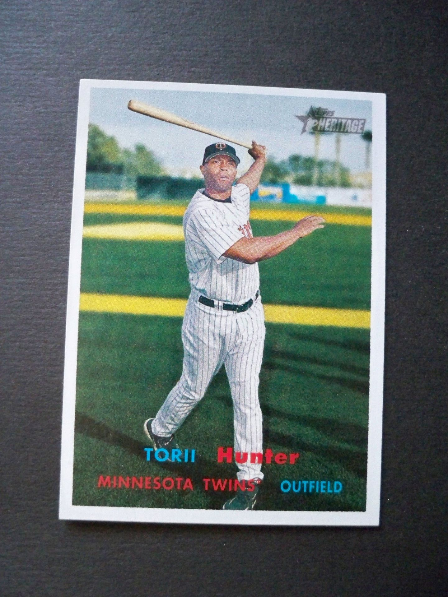 2006 Topps Heritage #350A Tori Hunter Red / Blue Letter SP Short Print Twins NM/MT