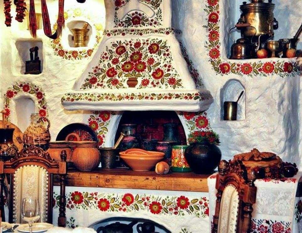 Орнамент на русской печке
