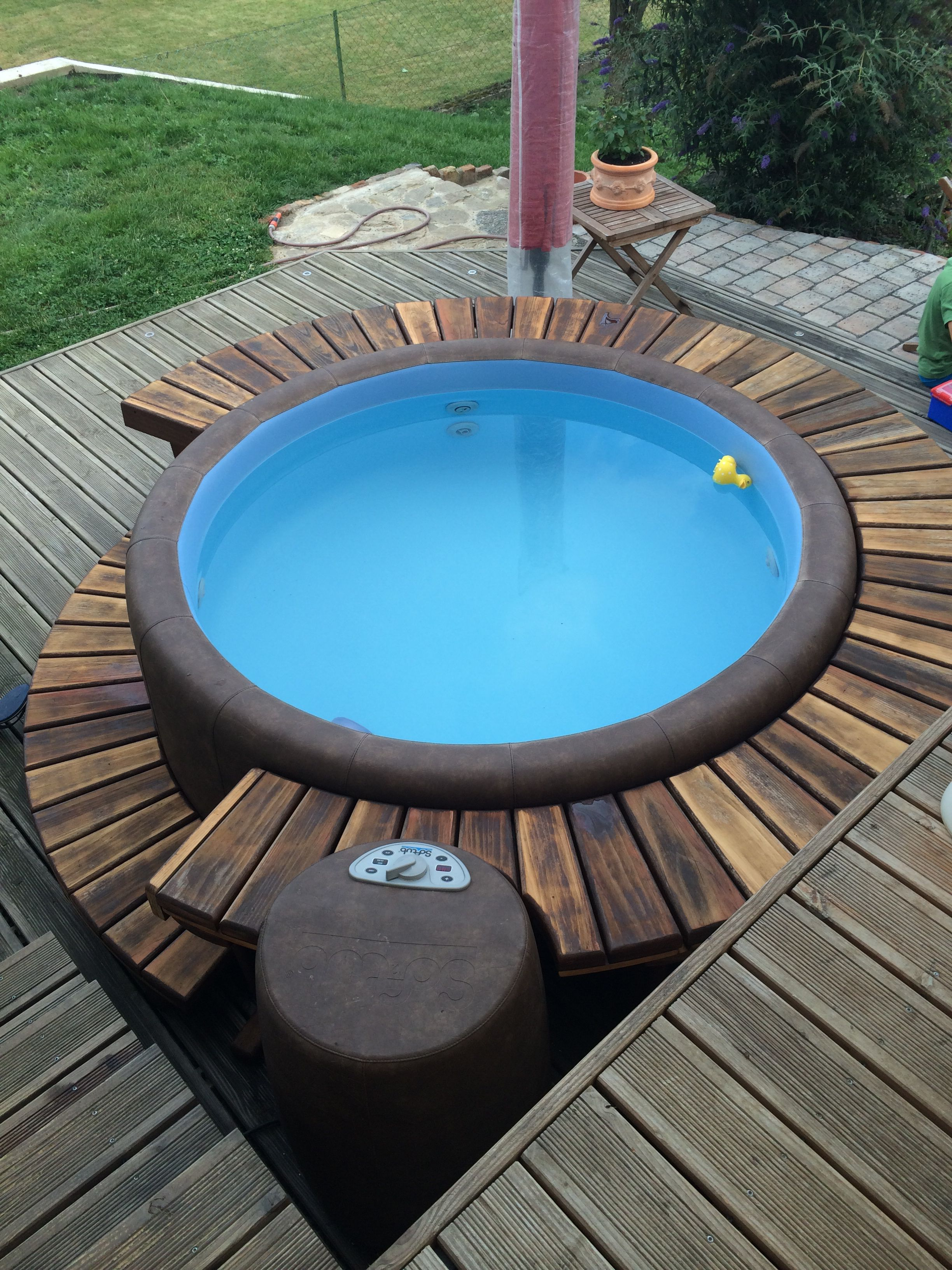 Whirlpool on the Patio | outdoor | Pinterest | Patios, Hot tubs and Tubs