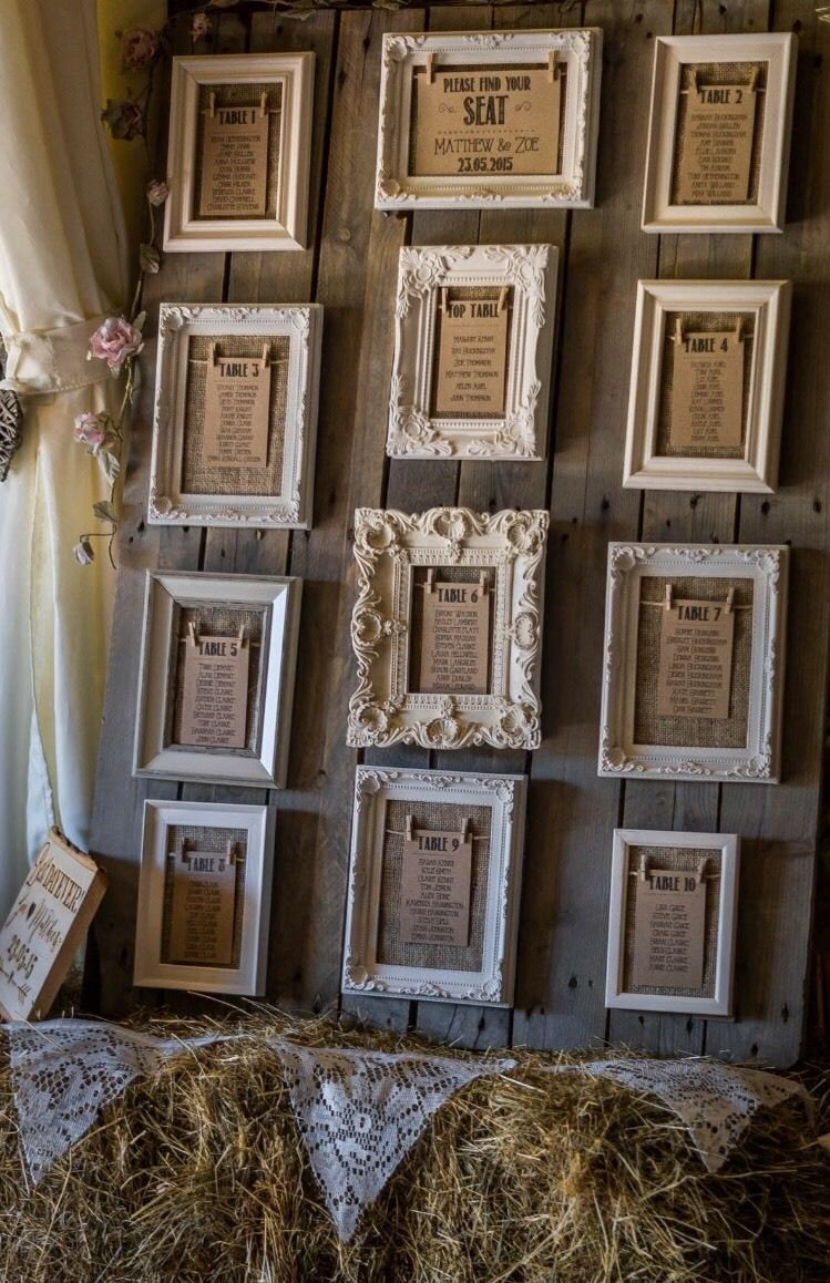 Beautiful Vintage Rustic Frame Table Plan Frames X12 Hessian And Twine Wedding