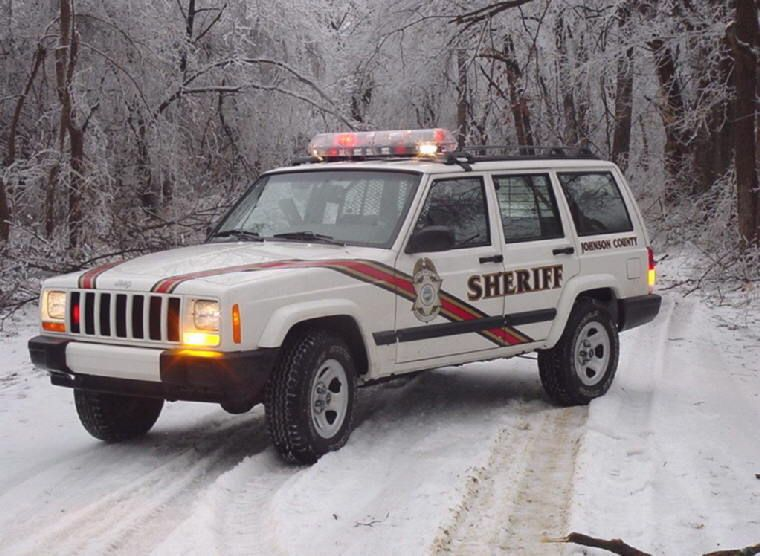20012001 johnson county sheriff white jeep police cars