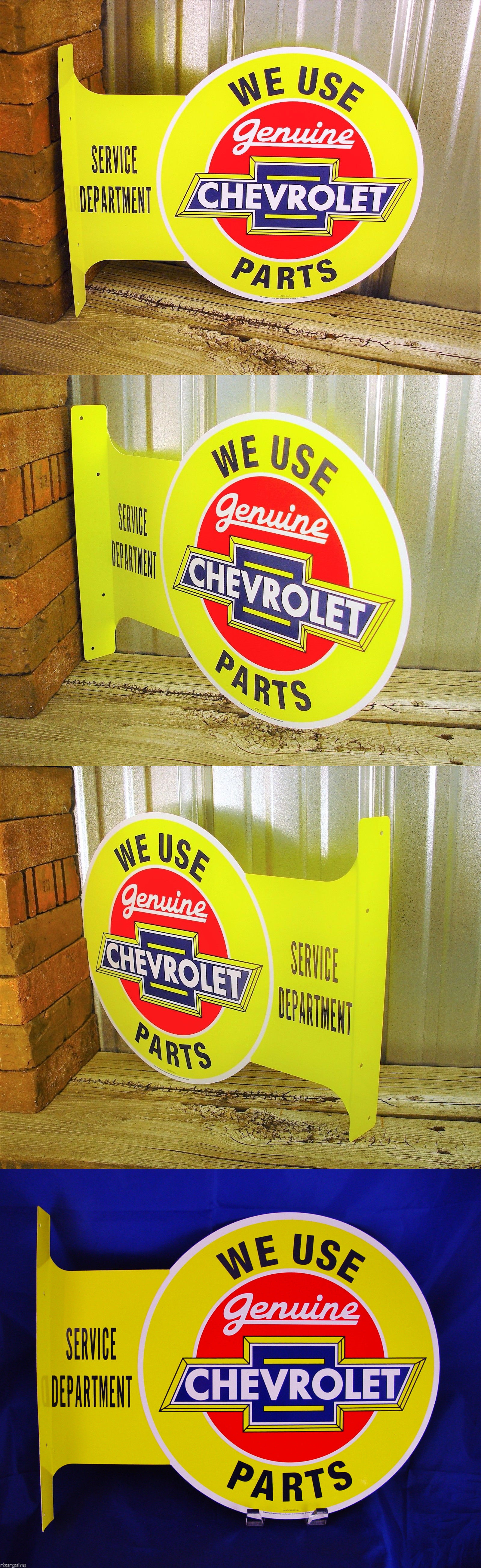 Plaques and Signs 31587: Chevrolet Chevy Parts Flange Metal Tin Sign ...