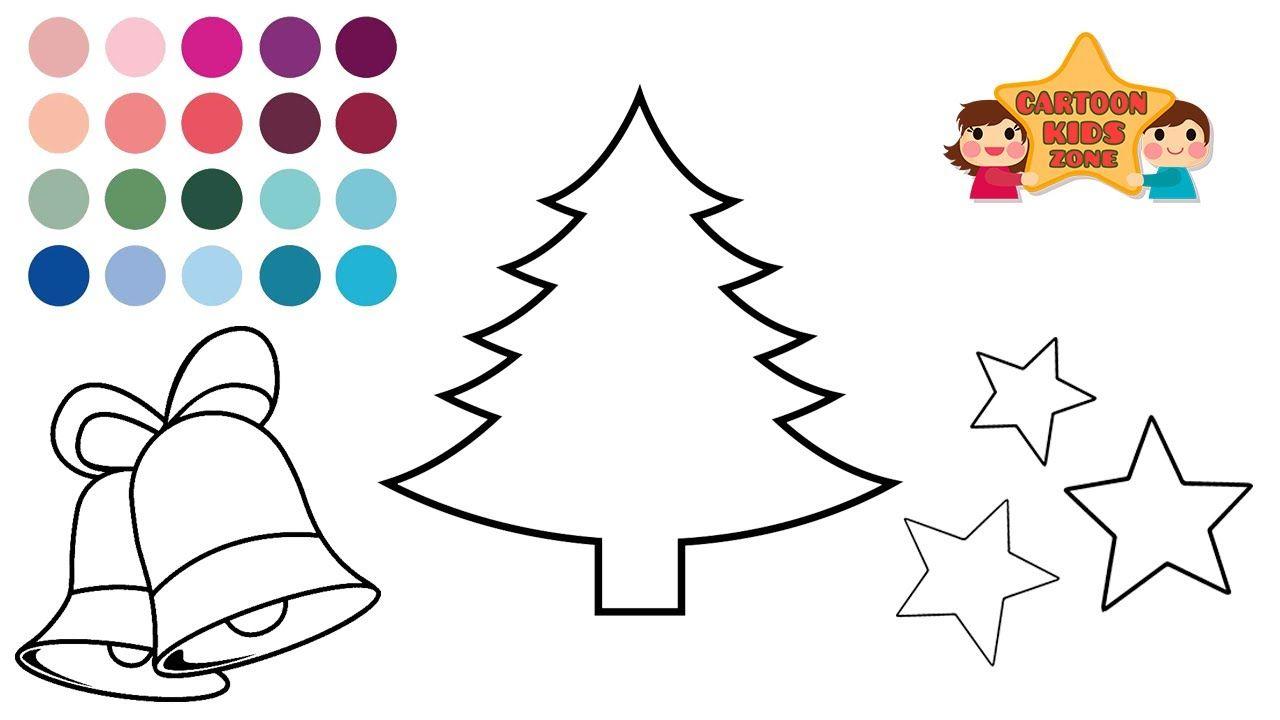 Glitter Christmas Tree Stars Colors Drawing For Kids Toddlers Kinde Christmas Tree Star Drawing For Kids Kindergarten Kids