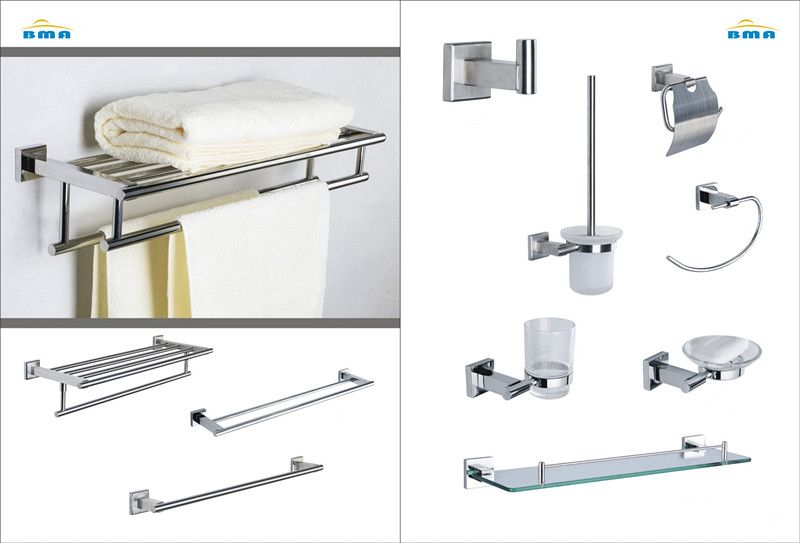 Stainless Steel Wall Mounted Bathroom Hardware With Images Stainless Steel Bathroom Accessories Bathroom Accessories Steel Wall
