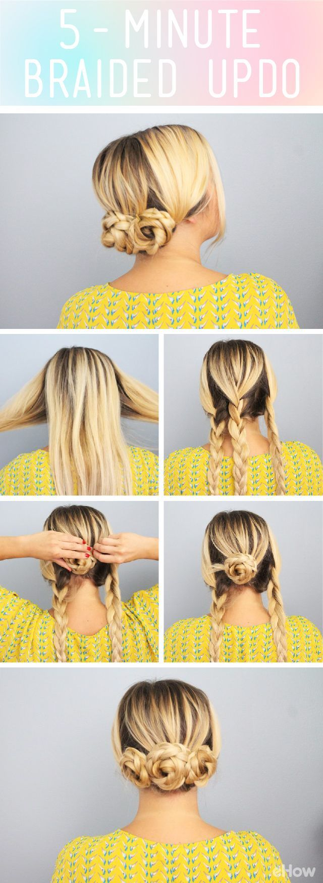 This adorable updo takes only minutes cute for a work or out with