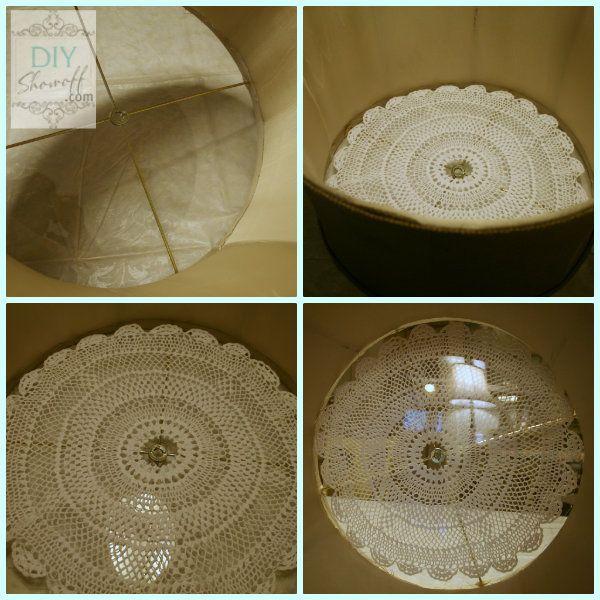 plexiglass doily drum shade