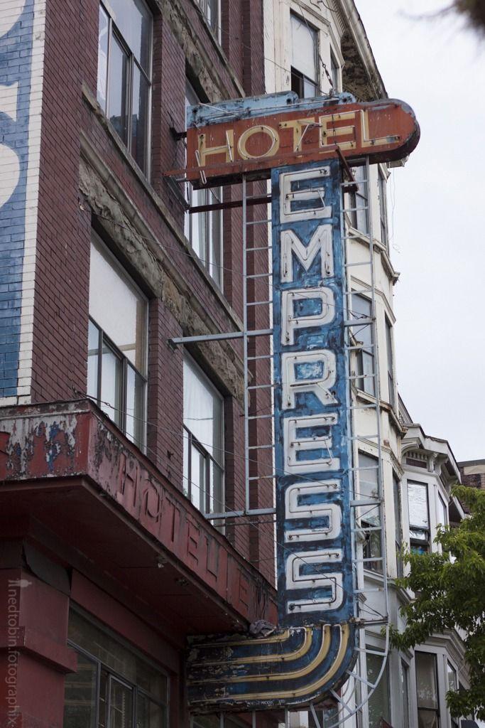 Vancouver BC  Hotel Empress blade sign  Vintage Blade