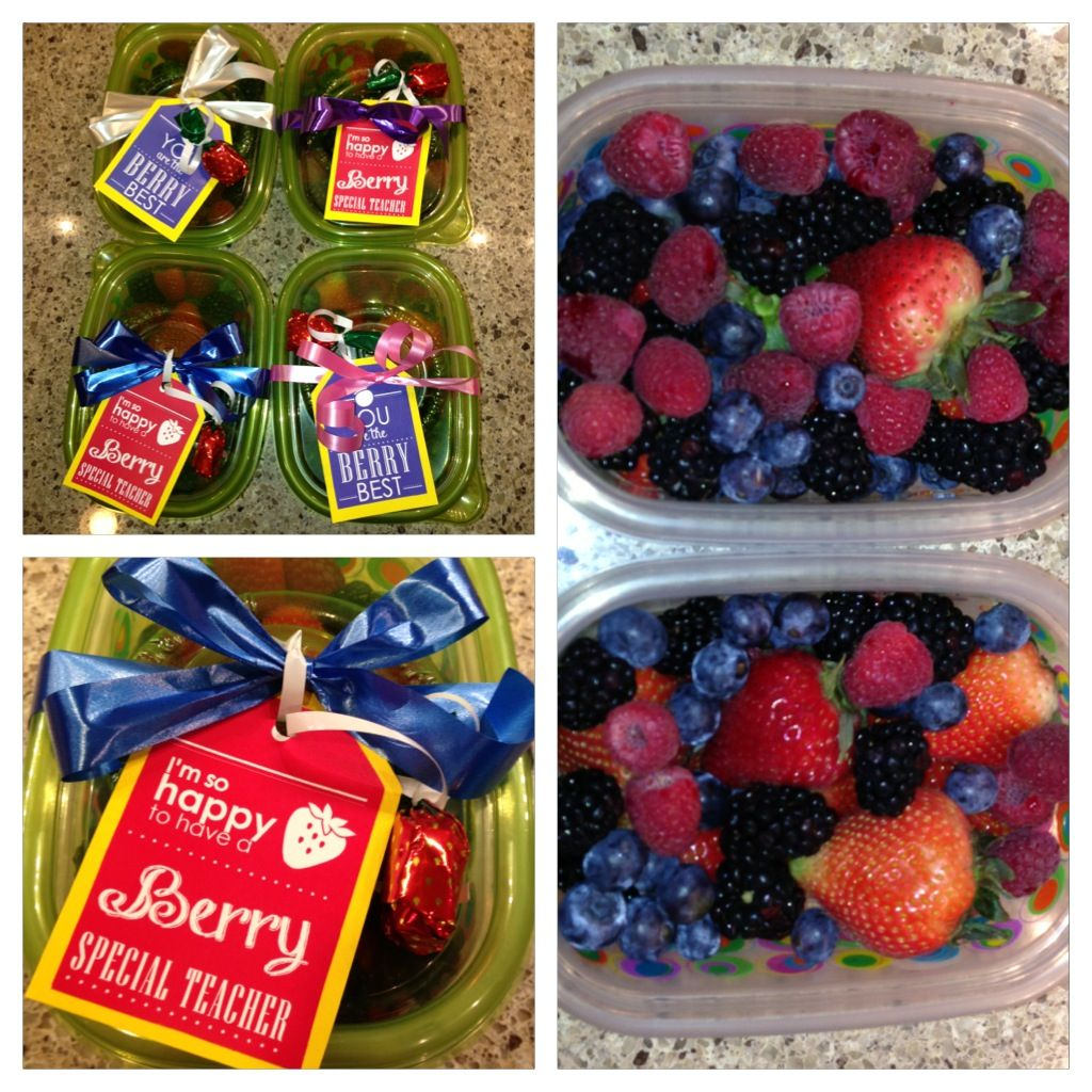 Berry Teacher Appreciation gifts!   Easy and healthy.