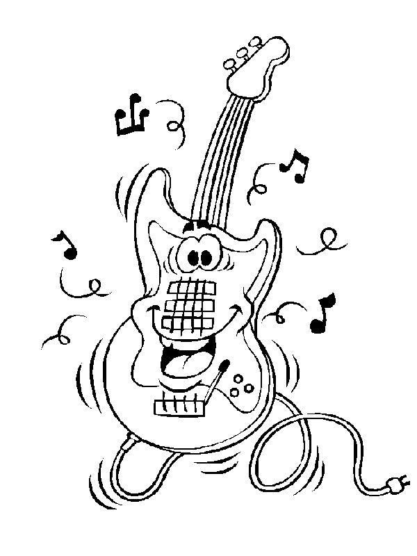 62 Coloring Pages Of Musical Instruments On Kids N Funcouk On