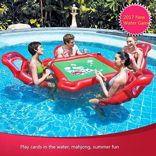Smartlife Inflatable Water Toys Poker Game Adult Swim Ring ...