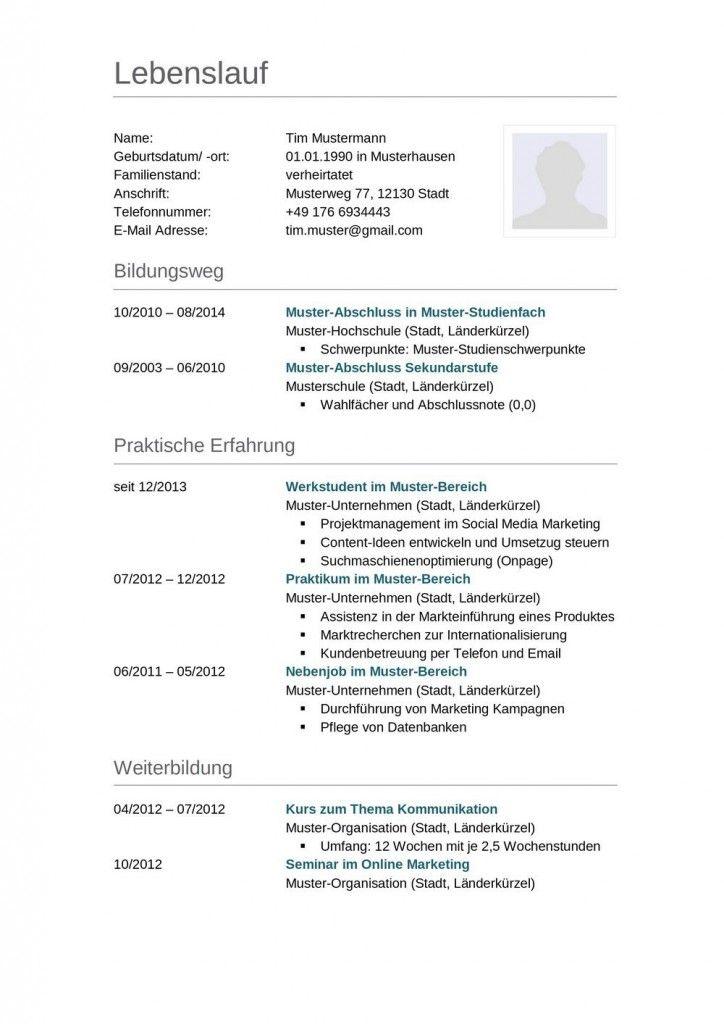 Muster Lebenslauf Maschinenbauingenieur Berufseinsteiger 15