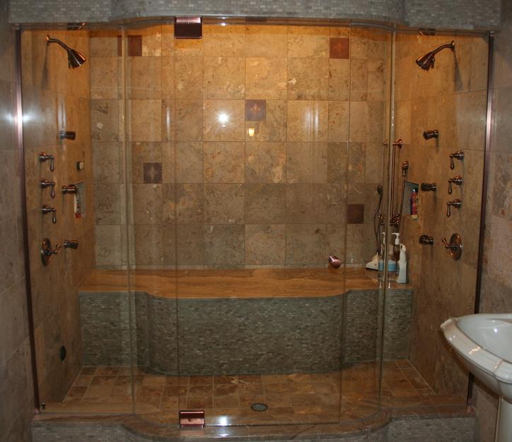 Frameless Shower Doors Michigan, Steam Shower, Pivot Hinges, Euro ...