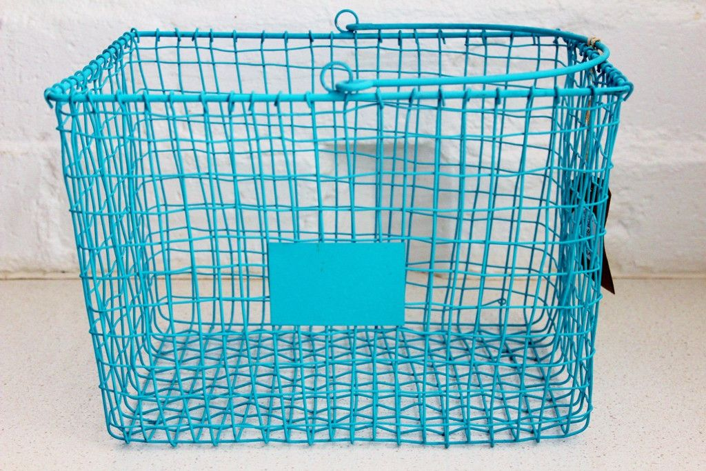 General Eclectic Wire Storage Basket Large Grey | The Gift Loft (NZ ...