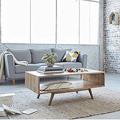 Table basse en bois de mindy - 120 x 60 cm - OSLO Home interior