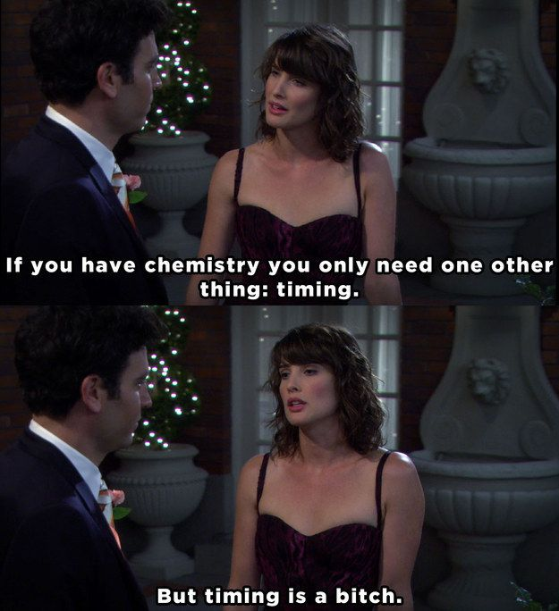 "When Robin revealed the secret to a successful relationship. | 23 Times ""How I Met Your Mother"" Got Way, Way Too Real"