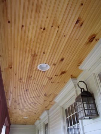 Beadboard Ceiling On Porch Porch Ceiling Patio Lighting