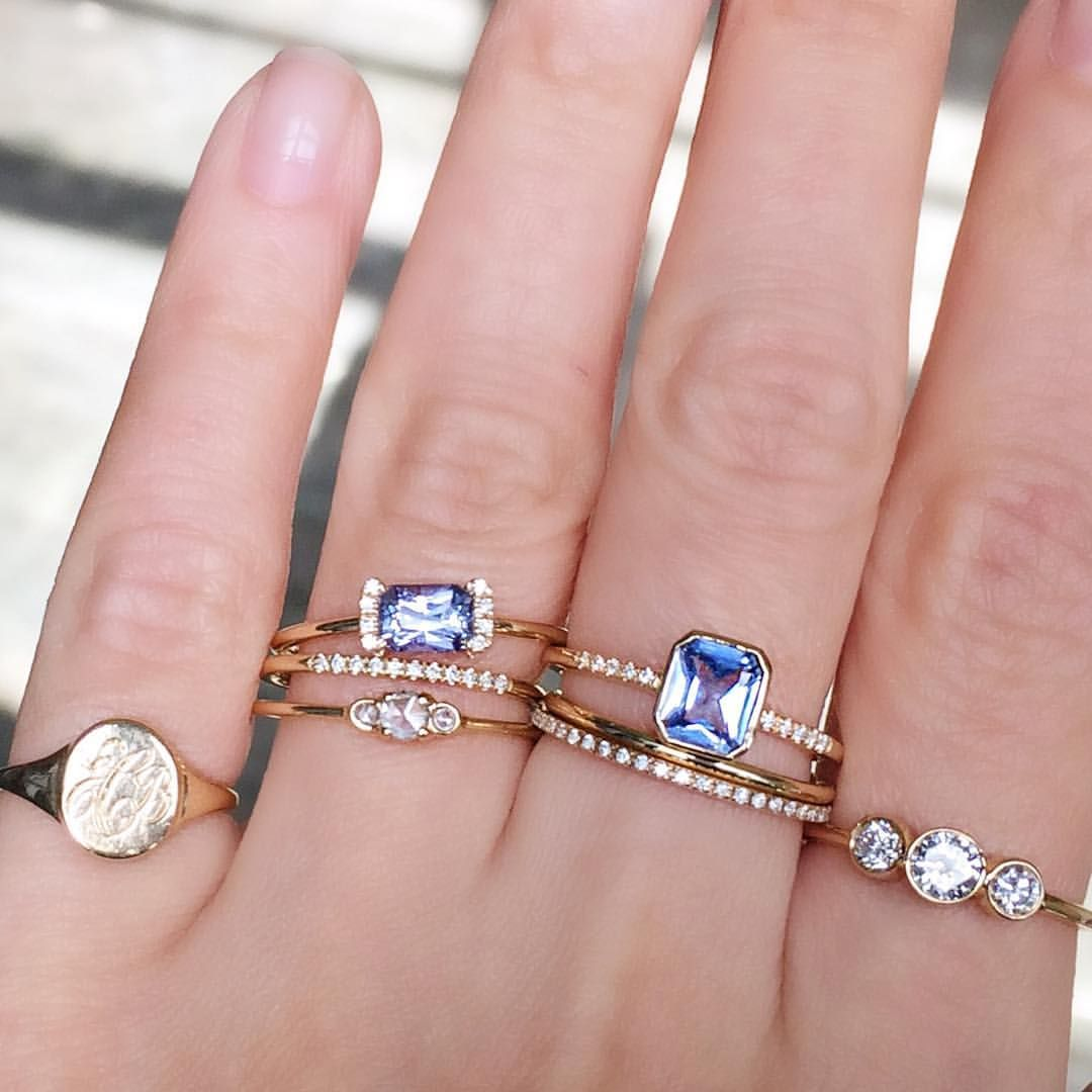 Our Adelaide Ring and PS Ring set with the prettiest cornflower blue ...