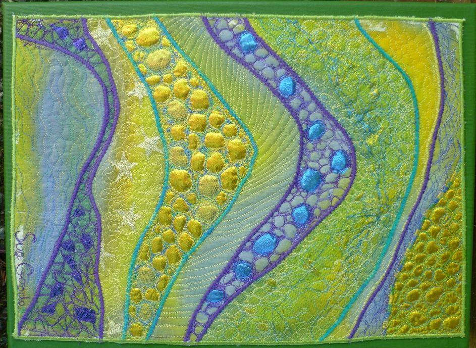 Green Strata - Sue Goode Bags 'n' Beads