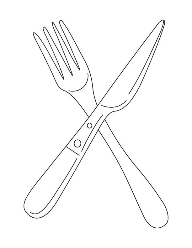 Pix For Fork And Knife Drawing Knife Drawing Drawings Fork