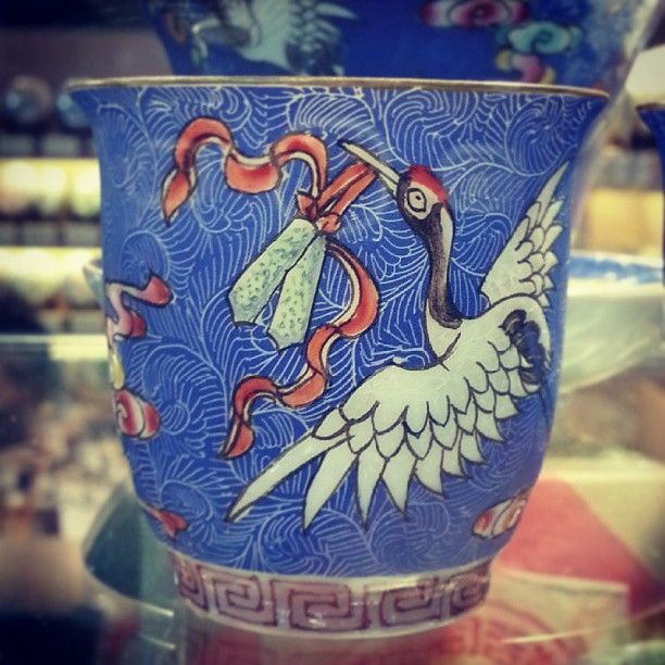 Hand painted cup at tea fair. Came as a set. Very nice and very rare. #mancha #teaware #dream #teacup